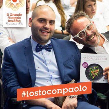 Sul palco del #GRANDEVIAGGIOINSIEME Conad io e il grande CHEF Luigi Pomata