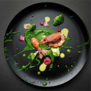 Broccoli, gamberi e salsa agli agrumi